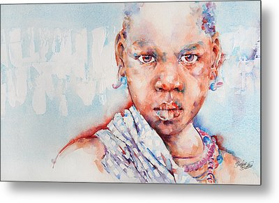 Embolden - African Portrait Metal Print by Stephie Butler