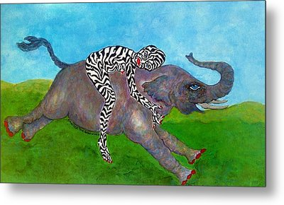 Embrace The Beast Within Metal Print by Suzanne Macdonald