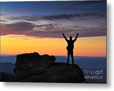 Embrace The Light Metal Print