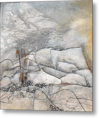 Embrace The White Metal Print by Laura  Lein-Svencner