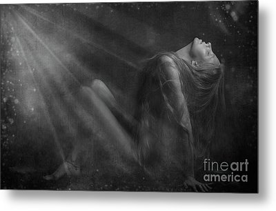 Embraced By The Light.. Metal Print by Nina Stavlund