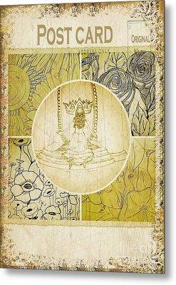 Embracing Glory-postcard Metal Print by Michelle Bentham
