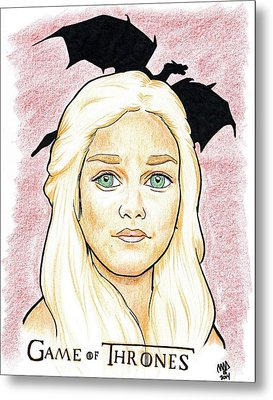 Emelia Clarke - Game Of Thrones Metal Print