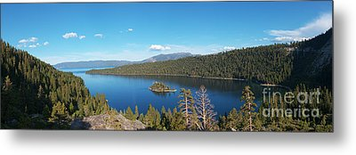 Metal Print featuring the photograph Emerald Bay Lake Tahoe Panorama by Paul Topp