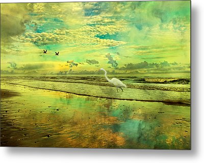 Emerald Evening Metal Print