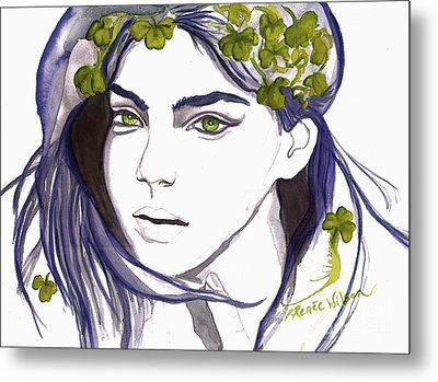 Emerald Eyes Metal Print by D Renee Wilson
