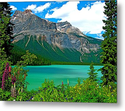 Emerald Lake In Yoho Np-bc Metal Print by Ruth Hager