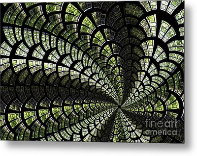 Metal Print featuring the photograph Emerald Whirl. by Clare Bambers