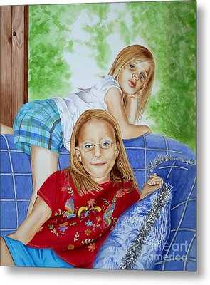 Emi And Mackenzie Metal Print