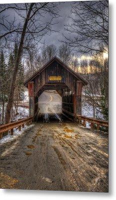 Emily's Bridge - Stowe Vermont Metal Print by Joann Vitali