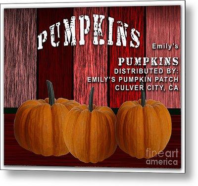 Emilys Pumpkin Patch Metal Print by Marvin Blaine