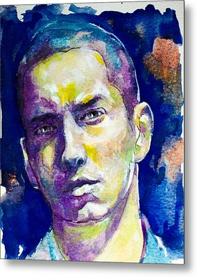 Metal Print featuring the painting Eminem by Laur Iduc
