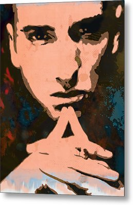 Eminem - Stylised Pop Art Poster Metal Print