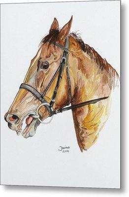 Emir The Horse Metal Print by Janina  Suuronen