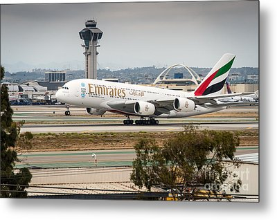 Emirates A380 Metal Print