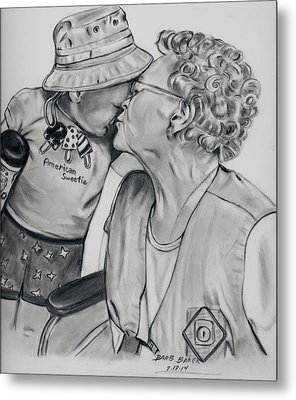 Emma And Great Grandma Metal Print