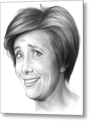 Emma Thompson Metal Print by Greg Joens