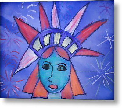 Emma's Lady Liberty Metal Print by Alice Gipson