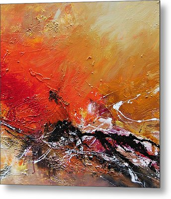 Metal Print featuring the painting Emotion 2 by Ismeta Gruenwald