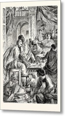 Emperor And Learned Men Of The Eastern Or Byzantine Empire Metal Print