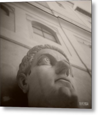 Emperor Constantine Statue Metal Print by Beverly Brown