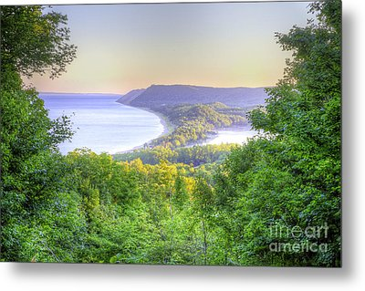 Empire Bluff Trail Overlook Metal Print by Twenty Two North Photography