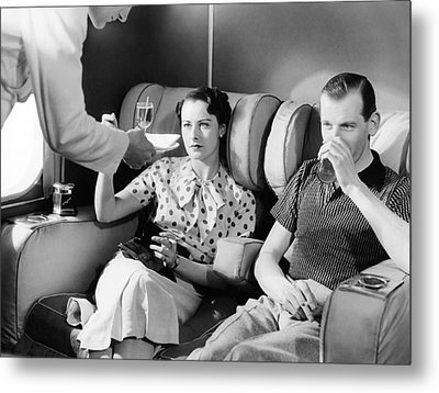Empire Flying Boat Lounge Metal Print by Underwood Archives