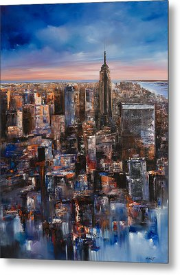 Empire Rising Tall Metal Print by Manit