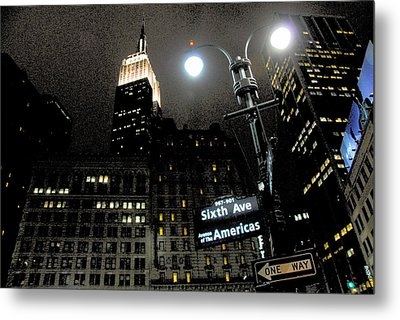 Empire State Building At Night Metal Print by Ivo Kerssemakers