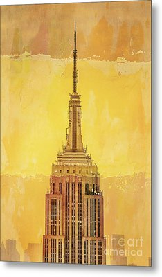 Empire State Building 4 Metal Print by Az Jackson