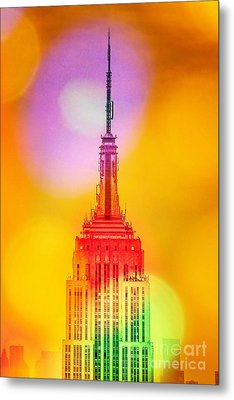 Empire State Building 6 Metal Print by Az Jackson