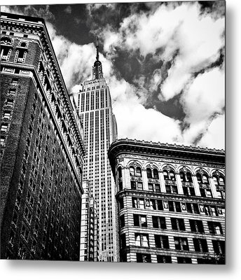Empire State Building And New York City Skyline Metal Print
