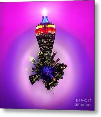 Empire State Building Circagraph Metal Print by Az Jackson