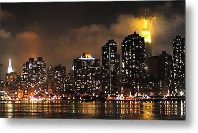 Empire State Building From Long Island City Metal Print by Steve Archbold