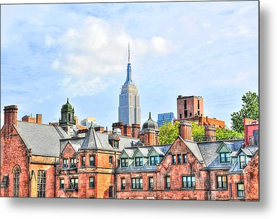 Empire State Building From The High Line Metal Print by Randy Aveille