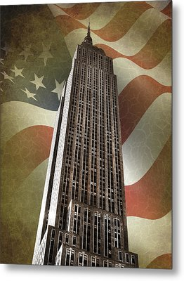 Empire State Building Metal Print by Mark Rogan