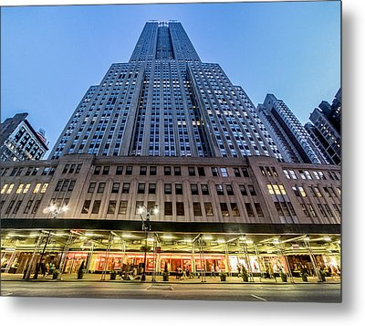 Metal Print featuring the photograph Empire State Building by Steve Zimic
