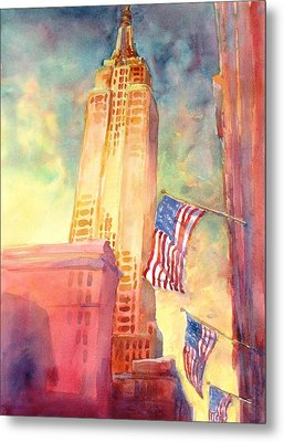 Empire State Metal Print by Virgil Carter