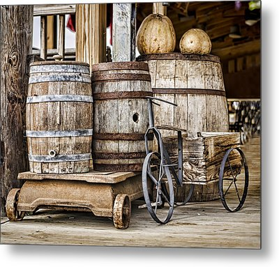 Emptied Barrels Metal Print