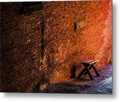 Empty Seat On A Hill Metal Print by Bob Orsillo