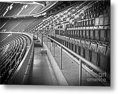 Empty Soccer Stadium Metal Print by Michal Bednarek