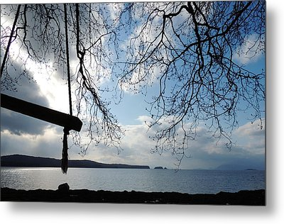 Empty Swing Metal Print