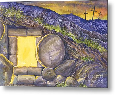 Empty Tomb Or Life And Death Metal Print