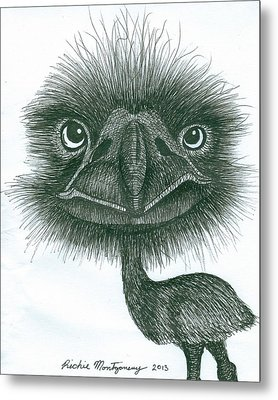Emu Metal Print by Richie Montgomery