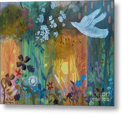 Metal Print featuring the painting Encantador by Robin Maria Pedrero