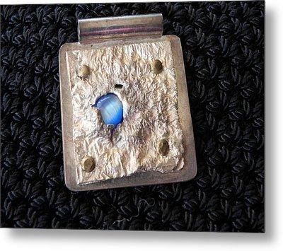 Encased Blue Stone Metal Print