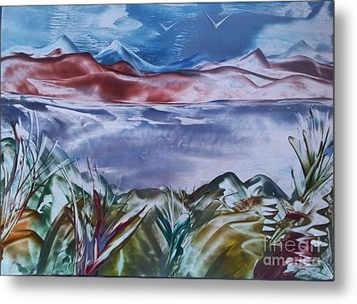 Encaustic Art 2 Metal Print by Debra Piro