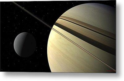 Enceladus Metal Print by David Robinson