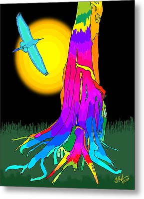 Enchanted Dream Tree Metal Print by Gerry Robins