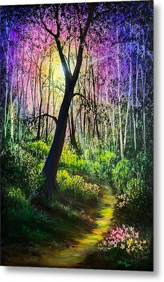 Enchanted Forest Metal Print by C Steele